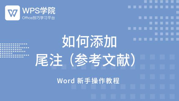(13)Word如何添加尾注(参考文献)